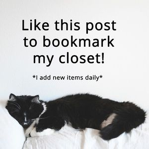 Artie says Like this post to bookmark my closet!